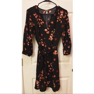 A New Day Black Floral Dress